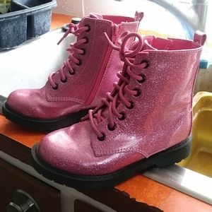 Sparkly Hot Pink Boots